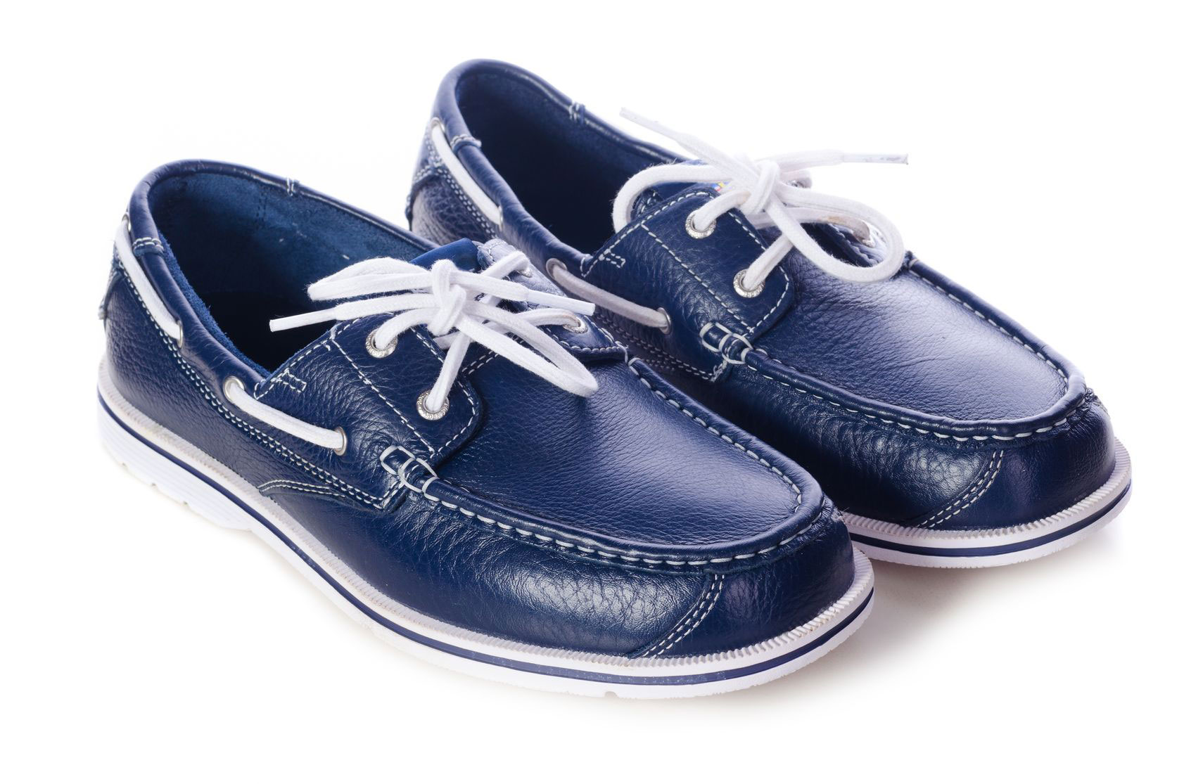 C.S. GEAR Men's Casual Blue Leather Shoes